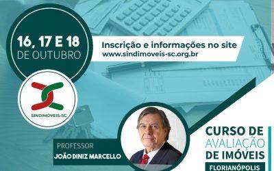 Curso de Avaliação de Imóveis – FLORIANÓPOLIS 16,17 e 18/10/2020